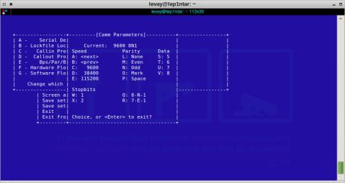 parameterminicom